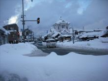 仙台のおいしいもの・宮城のおいしいものをご紹介-鶴岡、雪にうもれた建物